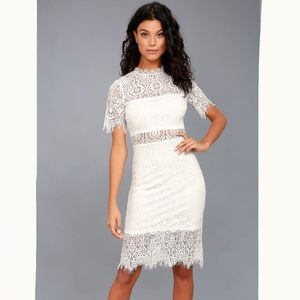 NWT! Lulu's Remarkable White Lace Dress